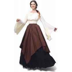 Fantasia Mulher Vitoriana Medieval Adulto Feminino