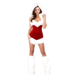 Fantasia Natal Papai Noel Luxo Adulto Capuz