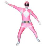 Fantasia Power Rangers Luxo Rosa Adulto