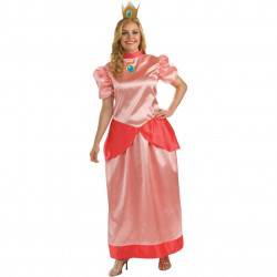 Fantasia Princesa Peach Adulto Extra Grande