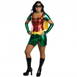 Fantasia Robin Feminino Adulto Extra Grande