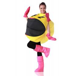 Fantasia Sra PacMan Pac Man Luxo Adulto Feminino