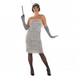 Fantasia Vestido de Franjas Anos 20 Adulto Luxo