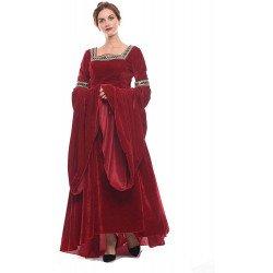 Fantasia Vestido Mulher Vitoriana Medieval Adulto Feminino