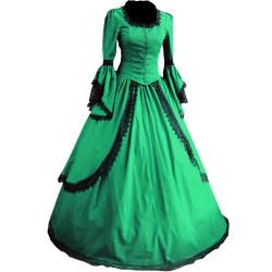 Fantasia Vestido Vitoriano Adulto Verde