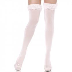 Meia Calça Adulto Feminino com detalhe rendado na barra
