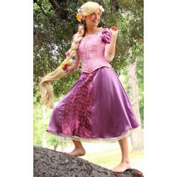 Peruca Adulto Rapunzel Enrolados Trança Elite