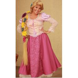 Peruca Adulto Rapunzel Enrolados Trança Luxo