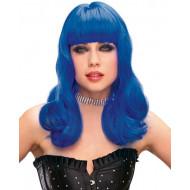 Peruca Feminina Adulto Azul Ondulada Katy Perry Sexy