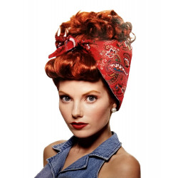 Peruca I Love Lucy lenço Luxo Adulto