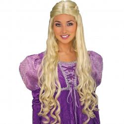 Peruca loira Rapunzel Luxo