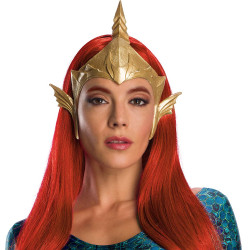 Peruca Mera Aquaman Adulto Vermelha