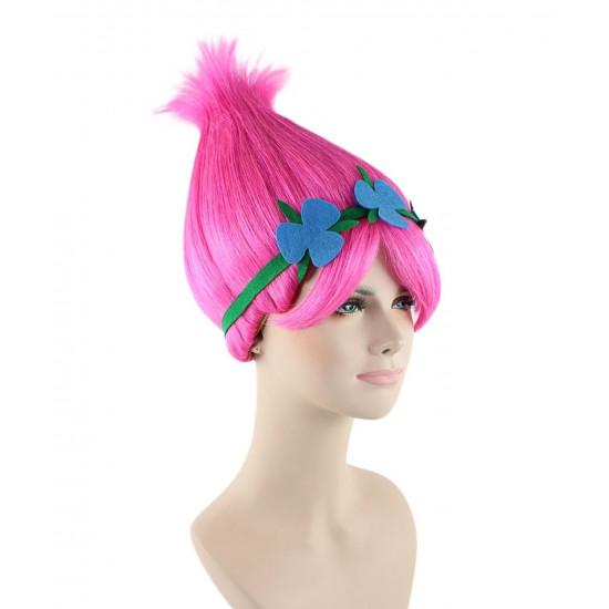 Peruca Princesa Poppy Luxo Adulto