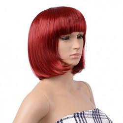 Peruca Resistente ao Calor Vermelha Adulto Luxo