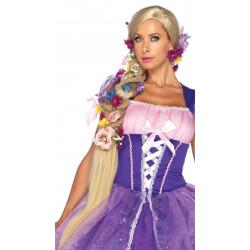 Peruca Trança Adulto Rapunzel Enrolados Luxo