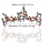Tiara Coroa Princesa Profissional Floral Adulto