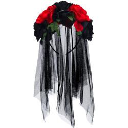 Tiara Flores Caveira Mexicana Adulto Luxo