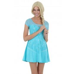 Vestido Fantasia Elsa Uma Aventura Congelante Luxo
