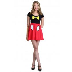 Vestido Fantasia Mickey Adolescente Luxo