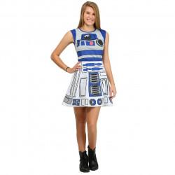 Vestido Fantasia R2D2 Star Wars Adolescente Luxo