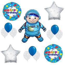 Balão Naves Espacial Astronauta e Estrelas Luxo