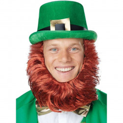 Chapéu e Barba Leprechaun Adulto