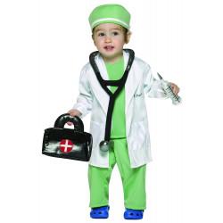 Fantasia Infantil Bebê Médico Luxo