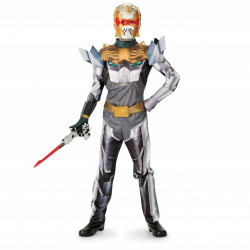 Fantasia Infantil Power Rangers Robo Knight Megaforce Luxo