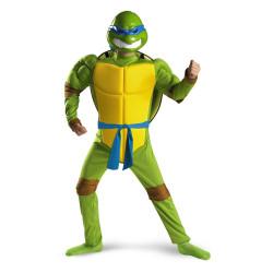 Fantasia Leonardo Tartarugas Ninja Infantil Luxo Músculos