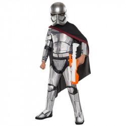 Fantasia Phasma Star Wars Luxo Infantil Despertar da Força