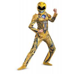 Fantasia Power Rangers Amarelo Filme Músculos Infantil