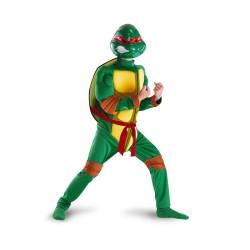 Fantasia Rafael Tartarugas Ninja Infantil Músculos Luxo