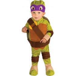 Fantasia Tartarugas Ninja Infantil Bebê Luxo Donatelo