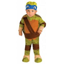 Fantasia Tartarugas Ninja Infantil Bebê Luxo Leonardo