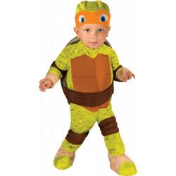 Fantasia Tartarugas Ninja Infantil Bebê Luxo Michelangelo