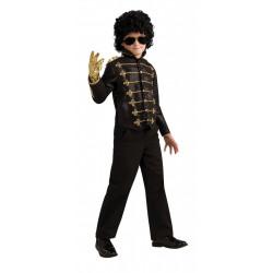 Jaqueta Michael Jackson Infantil Preta Militar