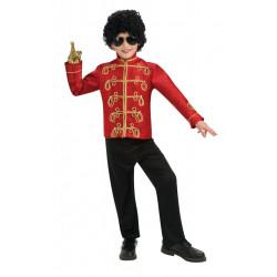 Jaqueta Michael Jackson Infantil Vermelha