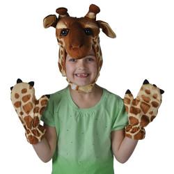 Máscara e Luvas de Girafa