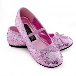 Sapatilha Infantil Rosa Pink Lantejoulas Brilhantes