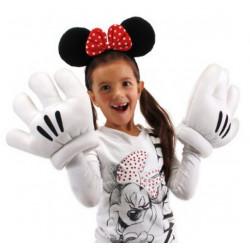 Luvas e Tiara com Fita da Minnie Mouse Disney Clássica
