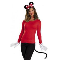 Luvas Tiara Rabo da Minnie Mouse Disney Clássica