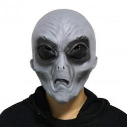 Máscara de Alien Extraterrestre Luxo Cinza