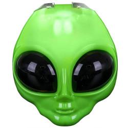 Máscara de Alien Extraterrestre Verde com Luz