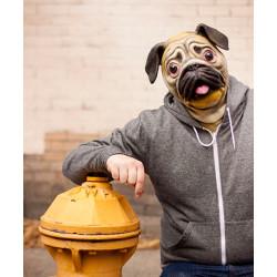 Máscara de Cachorro Pug Vinil Animal Luxo