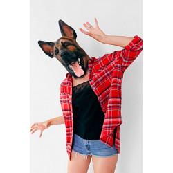 Máscara de Cachorro Vinil Animal Luxo