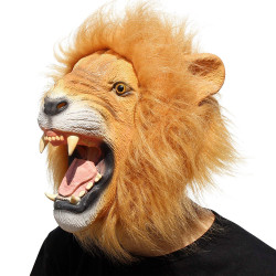 Máscara de Vinil Animal Leão Clássica
