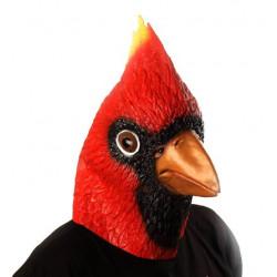 Máscara de Vinil Animal Pássaro Cardinal Luxo