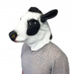 Máscara de Vinil Animal Vaca Luxo