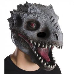 Máscara Jurassic Park O Mundo dos Dinossauros Indomirus TRex Adulto