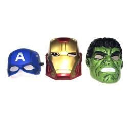Máscaras Dos Vingadores Ironman Capitão América e Hulk